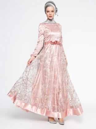 Lovely Abiye Elbise - Pudra