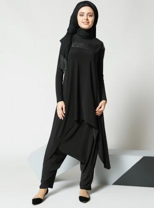 Şalvar Pantolon - Siyah Refka