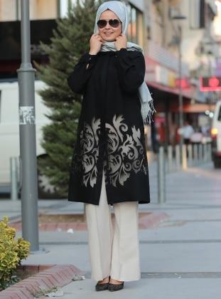 Saliha Bol Paça Pantolon - Taş Rengi