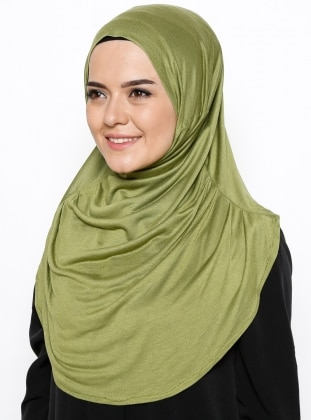 Green - Viscose - Instant Scarf