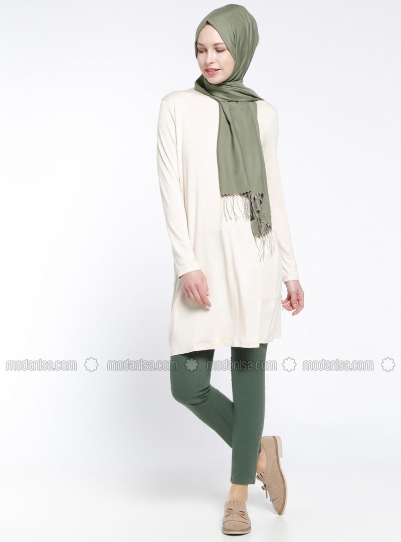 Narrow Leg Pants - Green