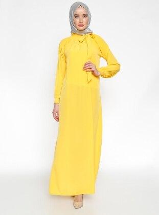 Gipeli Elbise - Sarı