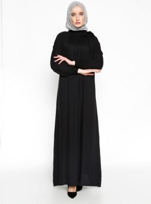 Gipeli Elbise - Siyah