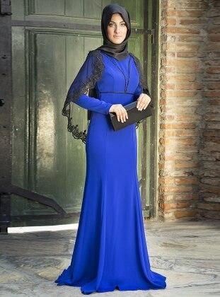 Merza Balık Abiye Ebise - Saks Mavisi