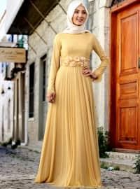 İncilim Elbise - Hardal - Nurkombin