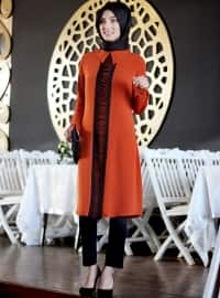 Terra Cotta - Orange - Round Collar - Orange - Round Collar - Tunic