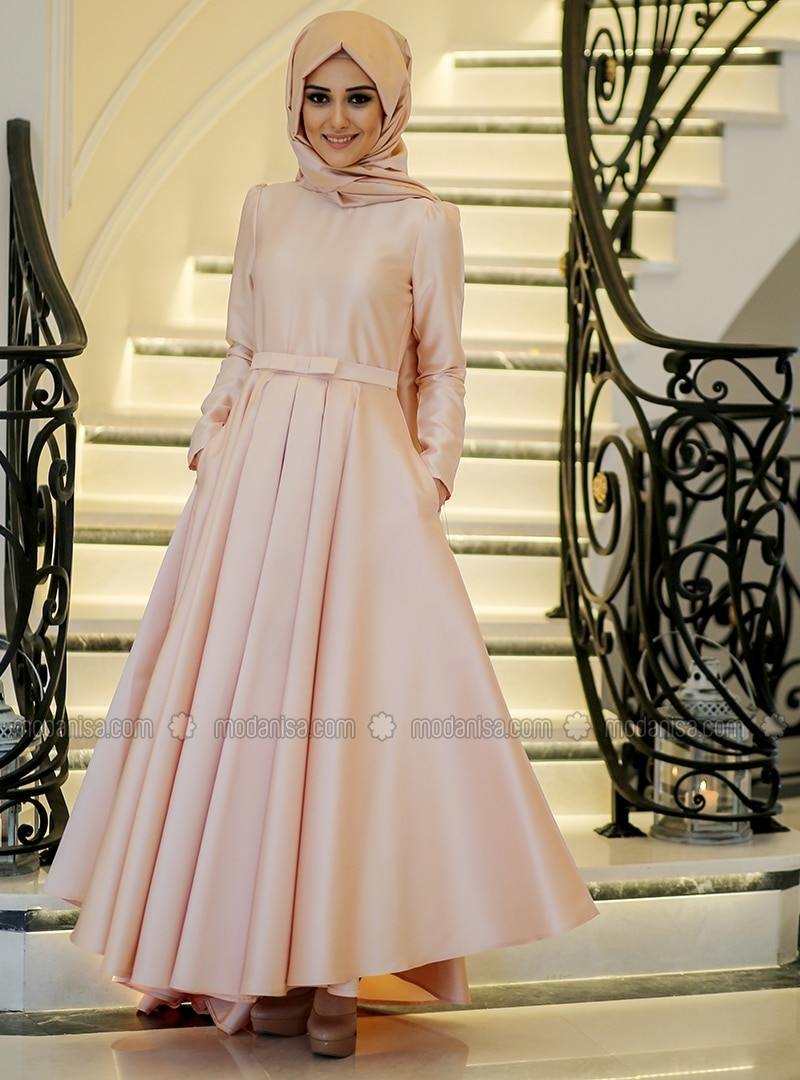 a3a1139794a89 Shoptagr | Bester Dress Salmon Minel Ask by Modanisa