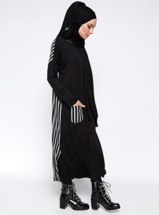 Stripe Tunic - Black - Everyday Basic 230728