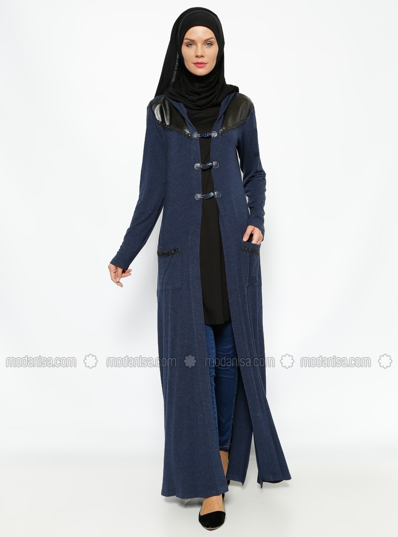 Long Cardigan - Navy Blue - Gzd