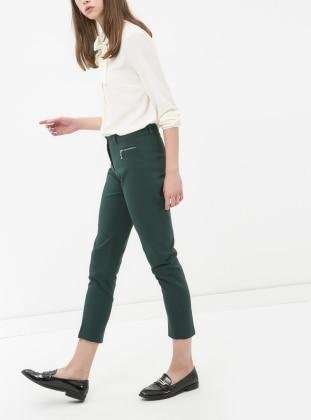 Boru Paça Pantolon - Yeşil