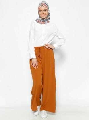 Bol Paça Pantolon - Taba Eva Fashion