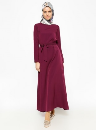 Belted Dress - Purple - Dadali 232457