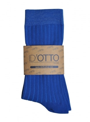 Organik Pamuk Çorap - Saks mavisi