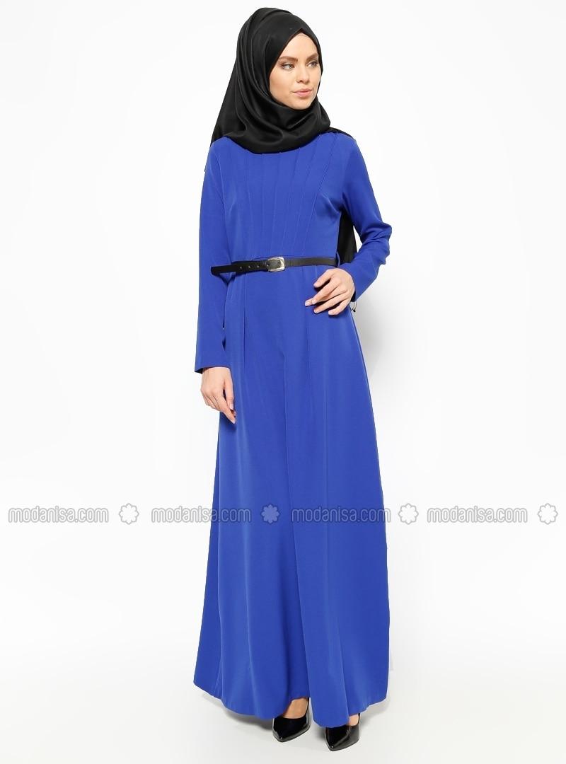 hidschab kleid royalblau eva fashion. Black Bedroom Furniture Sets. Home Design Ideas