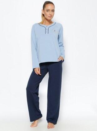 Pijama Takımı - Mavi Lacivert