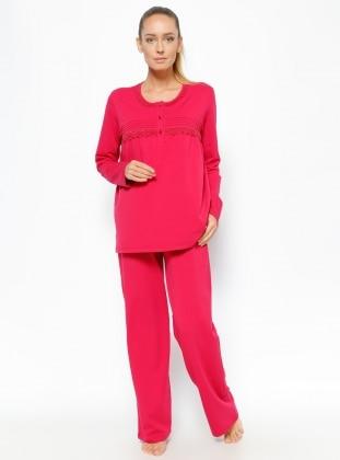 Pijama Takımı - Vişne