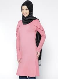 Frill Tunic Details - Pink