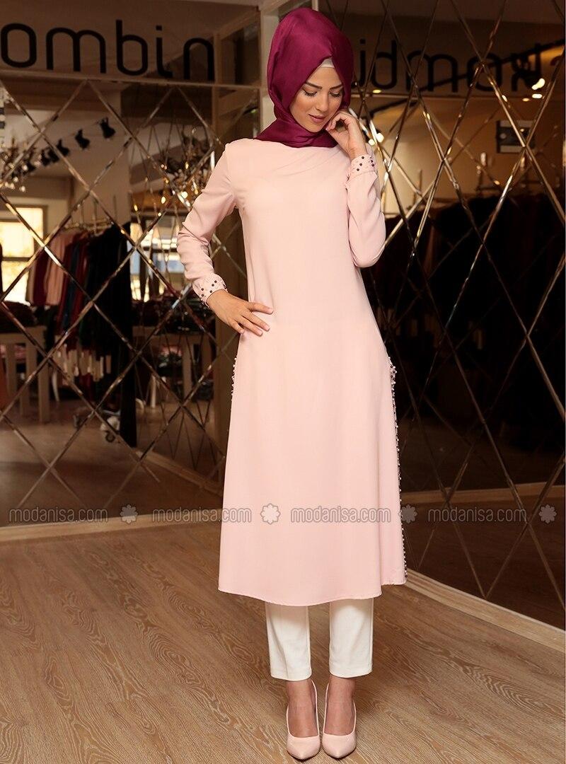 Yusra gowns - Powder