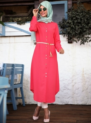 Nurkombin Henna Tunik - Mercan