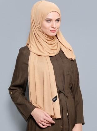 Rabia Z Jersey Penye Şal - Camel