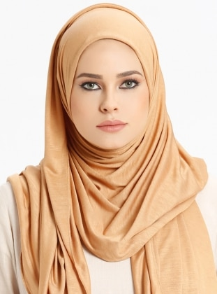 Combed Jersey Scarf - Camel