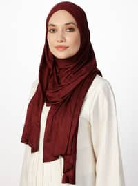 Combed Jersey Scarf - Plum