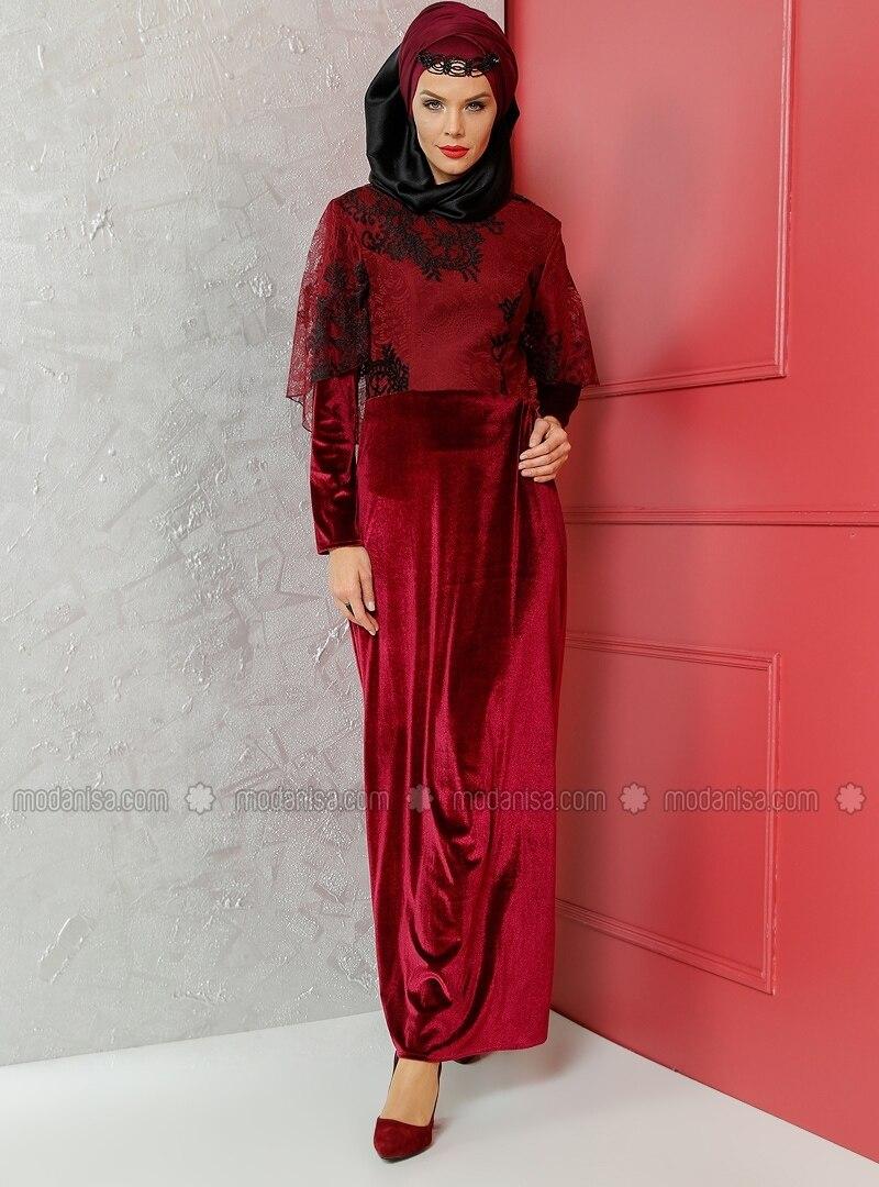 Model robe soiree velours