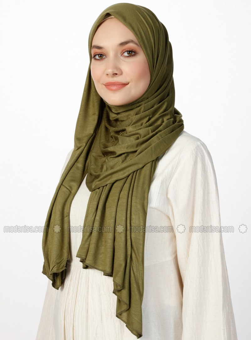Combed Jersey Scarf - Khaki