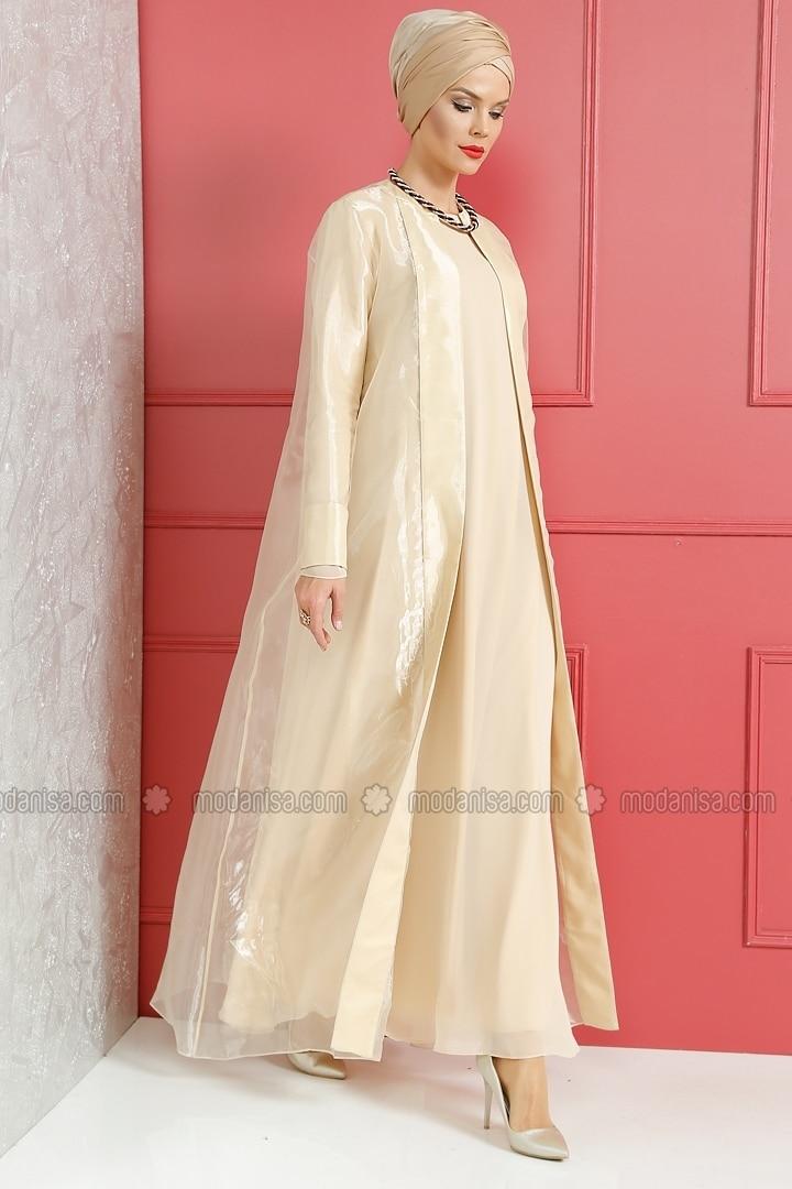 Kaftan Evening Dress Gold