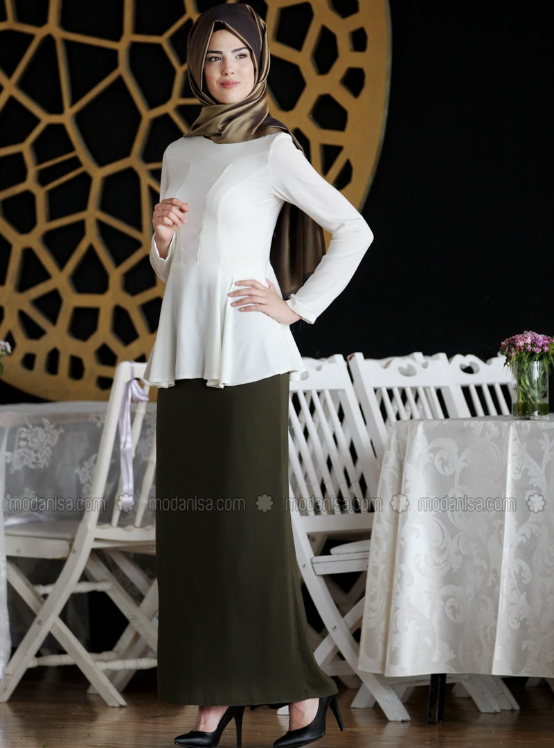 Khaki - Black - Fully Lined - Khaki - Fully Lined - Skirt