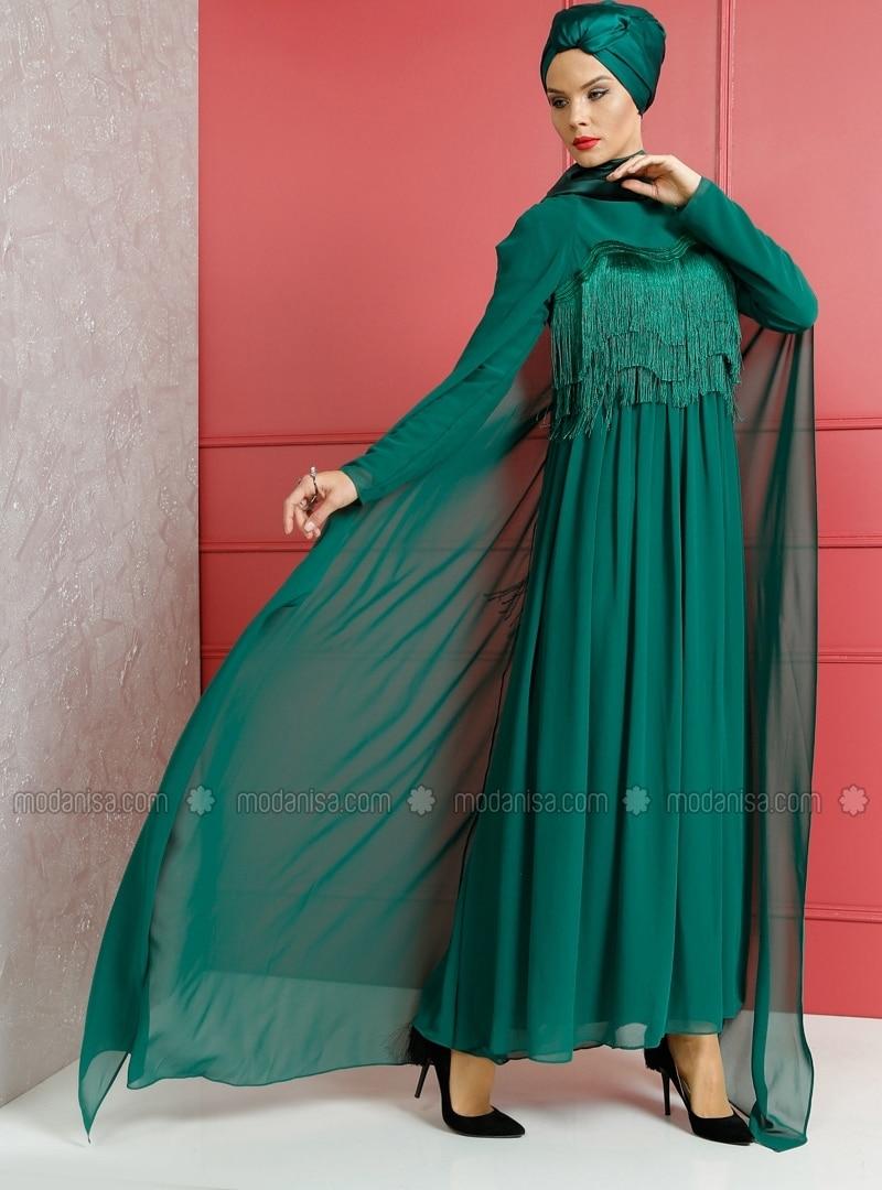 Robe de Soirée , Vert Emeraude , Dersaadet