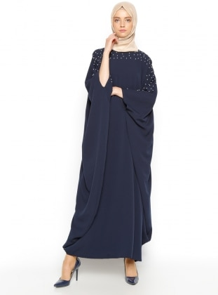 Tuncay İncili Ferace Elbise- Lacivert