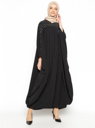 Tuncay İncili Ferace Elbise - Siyah