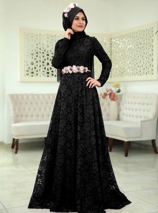 Menekşe Abiye Elbise - Siyah