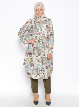 Patterned Tunic - Green - Puane 235775