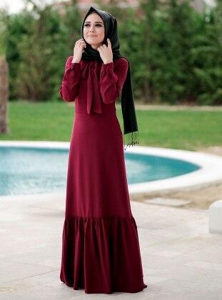 Carmen Dress - Maroon - Minel Ask 236355