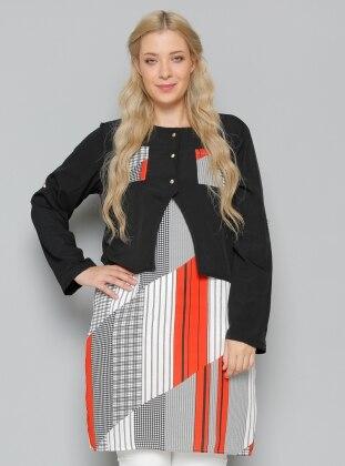 Kolsuz Tunik & Bluz İkili Takım - Siyah