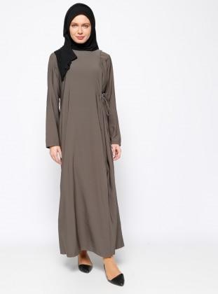 Hal-i Niyaz Ferace Namaz Elbisesi - Haki