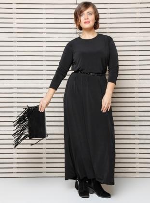 Basic Elbise - Siyah Alia