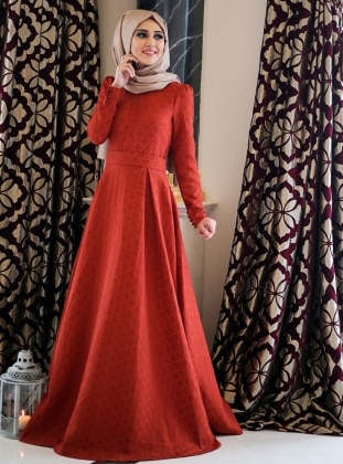 Dress - Red - Minel Ask 237059