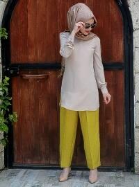 Trend Pantolon - Asit Yeşili - Minel Aşk