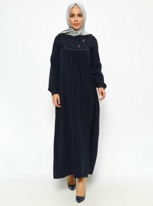 Güpür Detaylı Elbise - Lacivet