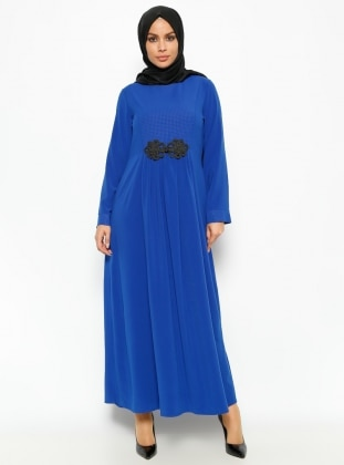 Pile Detaylı Elbise - Saks