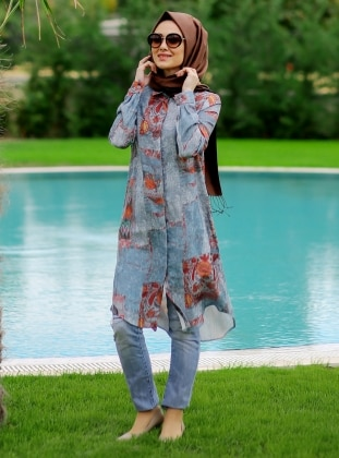Tunic - Blue - Minel Ask 237546