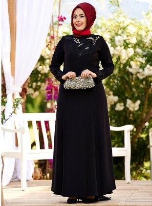 Mahur Abiye Elbise - Siyah
