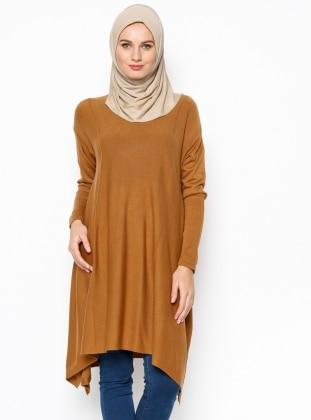 Salaş Triko Hırka - Camel
