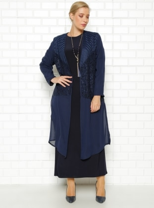Ceket&Elbise İkili Takım- Lacivert - he&de He & De