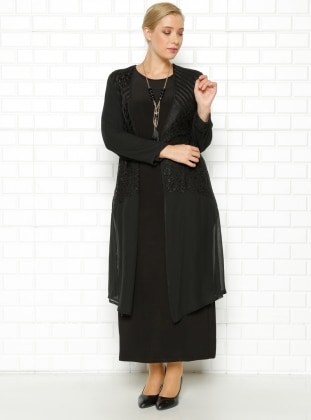 Ceket&Elbise İkili Takım- Siyah - he&de