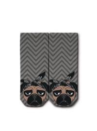 Ogobongo Dijital Baskılı Patik Çorap - Gri - Ogobongo