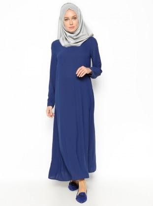 DRL İncili Elbise - Açık Lacivert